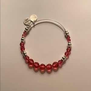 Alex and Ani Swarovski Beaded Bangle Rose Pink